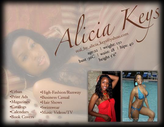 model promo card