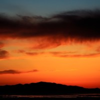 Antelope Island with Charcoal Clouds | Blurbomat.com