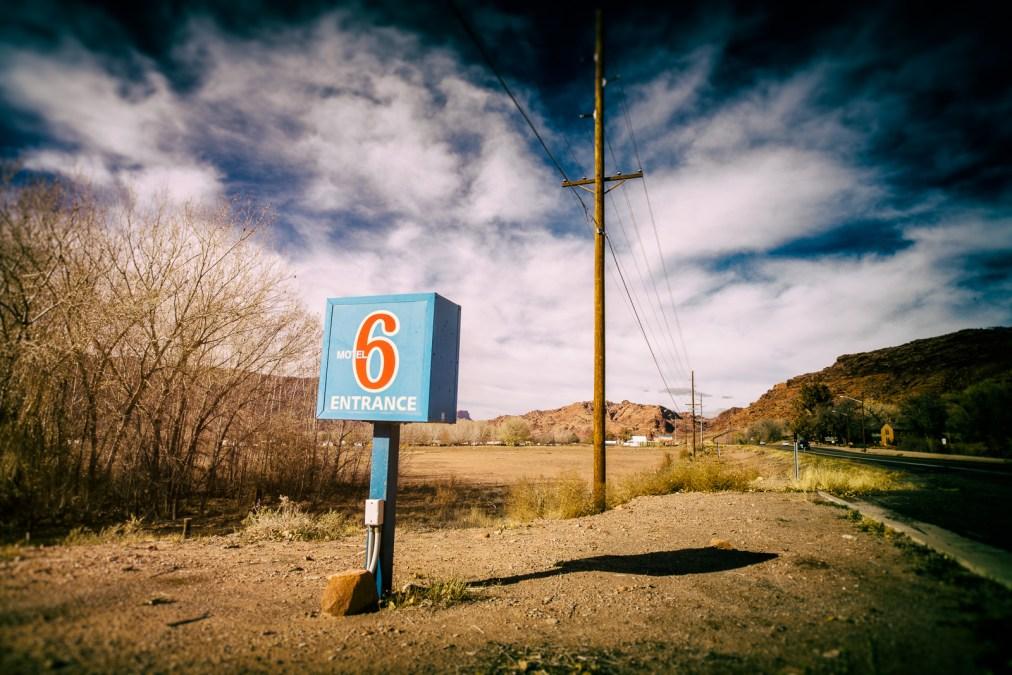 Motel Entrance in Moab, Utah