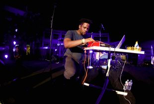 Open Mike Eagle at Into the Night: Summer SOULstice @ the Skirball 7/8/16. Photo by Derrick K. Lee, Esq. (@Methodman13)
