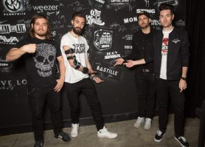 Bastille at RedBull Sound Space at KROQ 10/12/16. Photo by Chelsea Lauren (@ChelseaLaurenLA) for KROQ & RedBull. Used by www.BlurredCulture.com With Permission.