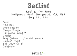 Kool & The Gang @ The Hollywood Bowl 7/22/17 | Setlist