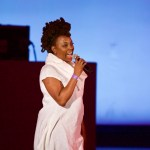 Ledisi with Robert Glasper Experiment at the Hollywood Bowl 8/16/17. Photo by Derrick K. Lee, Esq. (@Methodman13) for www.BlurredCulture.com.