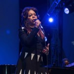 """Valerie Simpson at NPR's """"Turning The Tables"""" @ Damrosch Park 7/26/17. Photo by Vivian Wang (@Lithophyte) for www.BlurredCulture.com."""