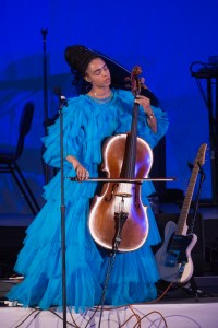 Kelsey Lu at The Hollywood Bowl 9/24/17. Photo by Greg Grudt/Mathew Imaging. Used with permission.