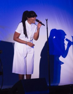Amber Strother of King at The Hollywood Bowl 9/24/17. Photo by Greg Grudt/Mathew Imaging. Used with permission.
