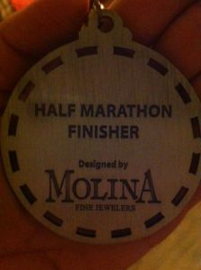 Half Marathon finisher medal, Phoenix half marathon