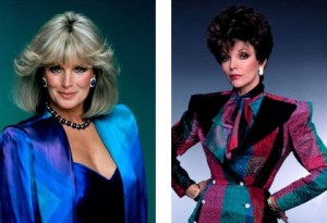 Dynasty Shoulder Pads, Dynasty fashions, pear-shaped, Krystle Carrington, Alexis Colby