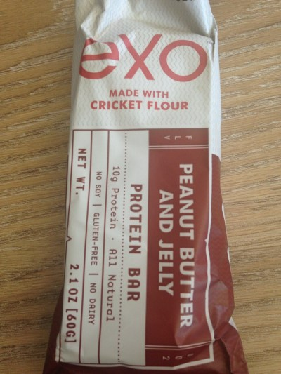 exo made with cricket flour, PB&J