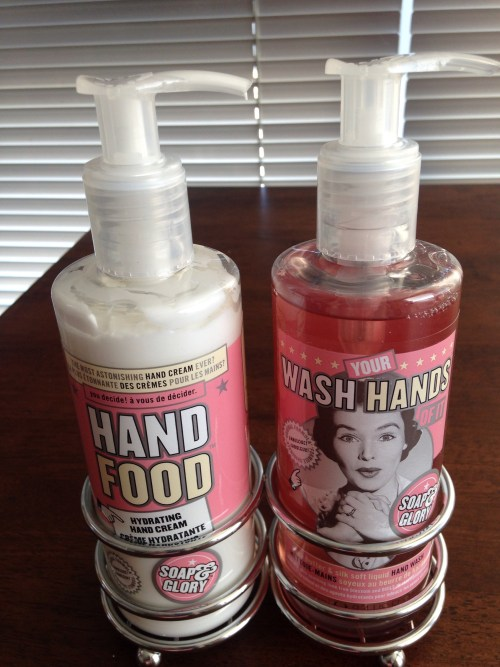 My hands are in bad shape, so I purchased Soap & Glory Hand Food from Marshalls to battle dry, cracked hands and brittle nails.