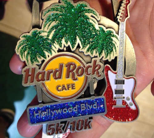 Race recap of the Run Hard Rock Cafe 10k in Hollywood to benefit My Friend's Place, with a post-race Hefeweizen from Wolf Creek brewery