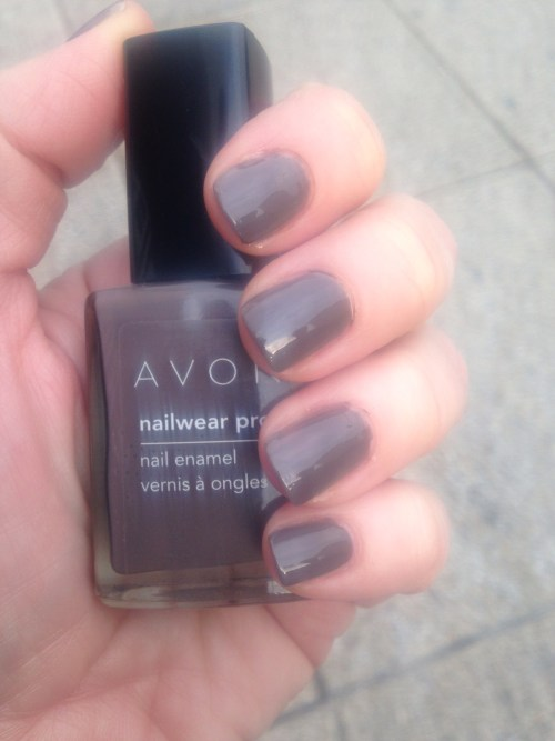 manicure monday with Avon Nocturnal, Orly Bonder base coat, Sally Hansen Miracle Gel top coat