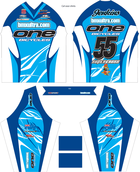 2010 bmxultra.com/one bicycles team jersey