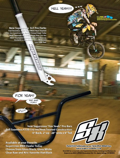 Supercross BMX SLT forks and Fox Yeah! Bars