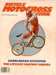 front cover of BMX Action magazine way back in 79