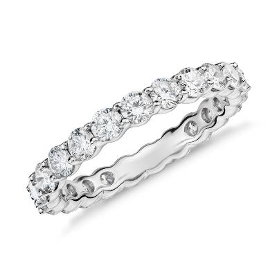 womens wedding rings contour diamond wedding band Classic Diamond Eternity Ring in Platinum 2 ct tw