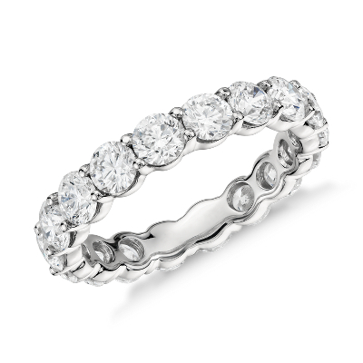 womens wedding rings wedding band rings Classic Diamond Eternity Ring in Platinum 3 ct tw