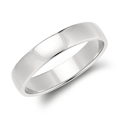classic low dome wedding ring platinum 5 mm mens platinum wedding band Classic Wedding Ring in Platinum 5mm