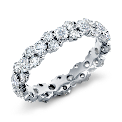 garland diamond eternity ring platinum womens diamond wedding band Garland Diamond Eternity Ring in Platinum 2 5 ct tw