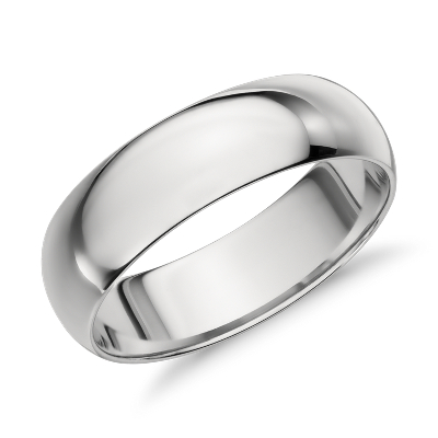 mens wedding rings wedding rings men Mid weight Comfort Fit Wedding Band in Platinum 6mm