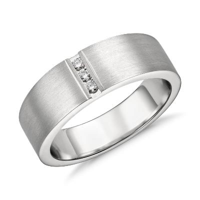 diamond rings mens platinum wedding band Modern Channel Diamond Ring in Platinum 1 12 ct tw