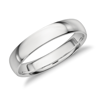 platinum wedding ring wedding rings Mid weight Comfort Fit Wedding Band in Platinum 4mm