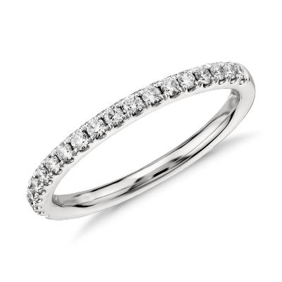 womens wedding rings cheap womens wedding rings Riviera Pav Diamond Ring in 14k White Gold 1 4 ct tw