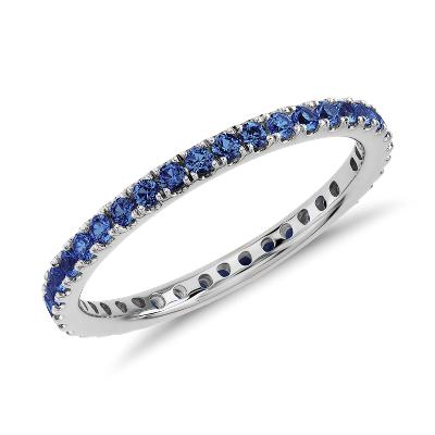 sapphire jewelry sapphire wedding band Blue Nile Favorite Riviera Pav Sapphire Eternity Ring