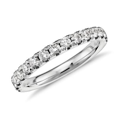 scalloped pave diamond wedding band platinum platinum wedding band Scalloped Pav Diamond Ring in Platinum 1 2 ct tw