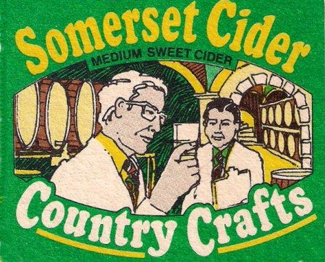 Coates's Cider mat -- detail.