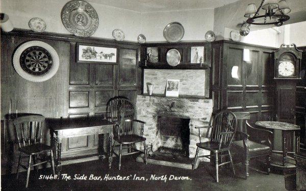 Inside the Hunter's Inn, Devon