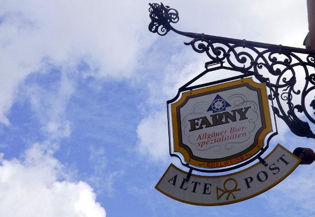 Farny beer advertisement, Lindau, Bavaria.