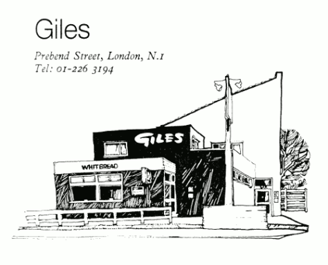 Giles, Prebend Street, London N1.