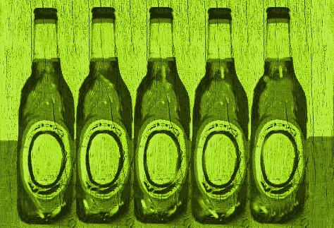 Green Bottles Standing on a Wall
