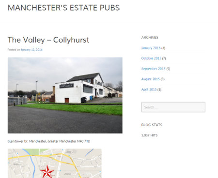 Screenshot: Manchester's Estate Pubs.