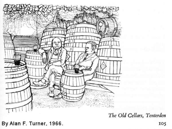 The Old Cellars, Tenterden, as drawn by Alan F. Turner.