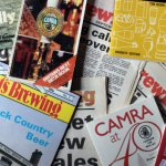 Various books and magazine from the last 40+ years of CAMRA.