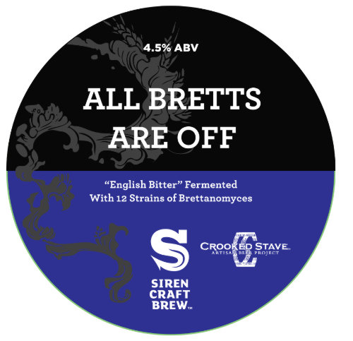 All Bretts Are Off Pump Clip design.