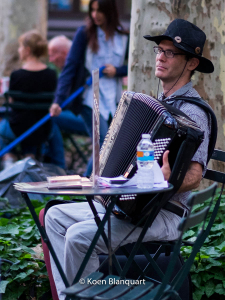 Bryant Park hosts accordion players from around the world during the summer.