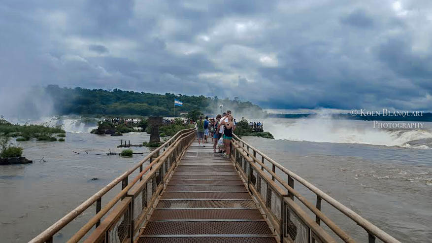 Iguazu Falls Walkway to the waterfalls