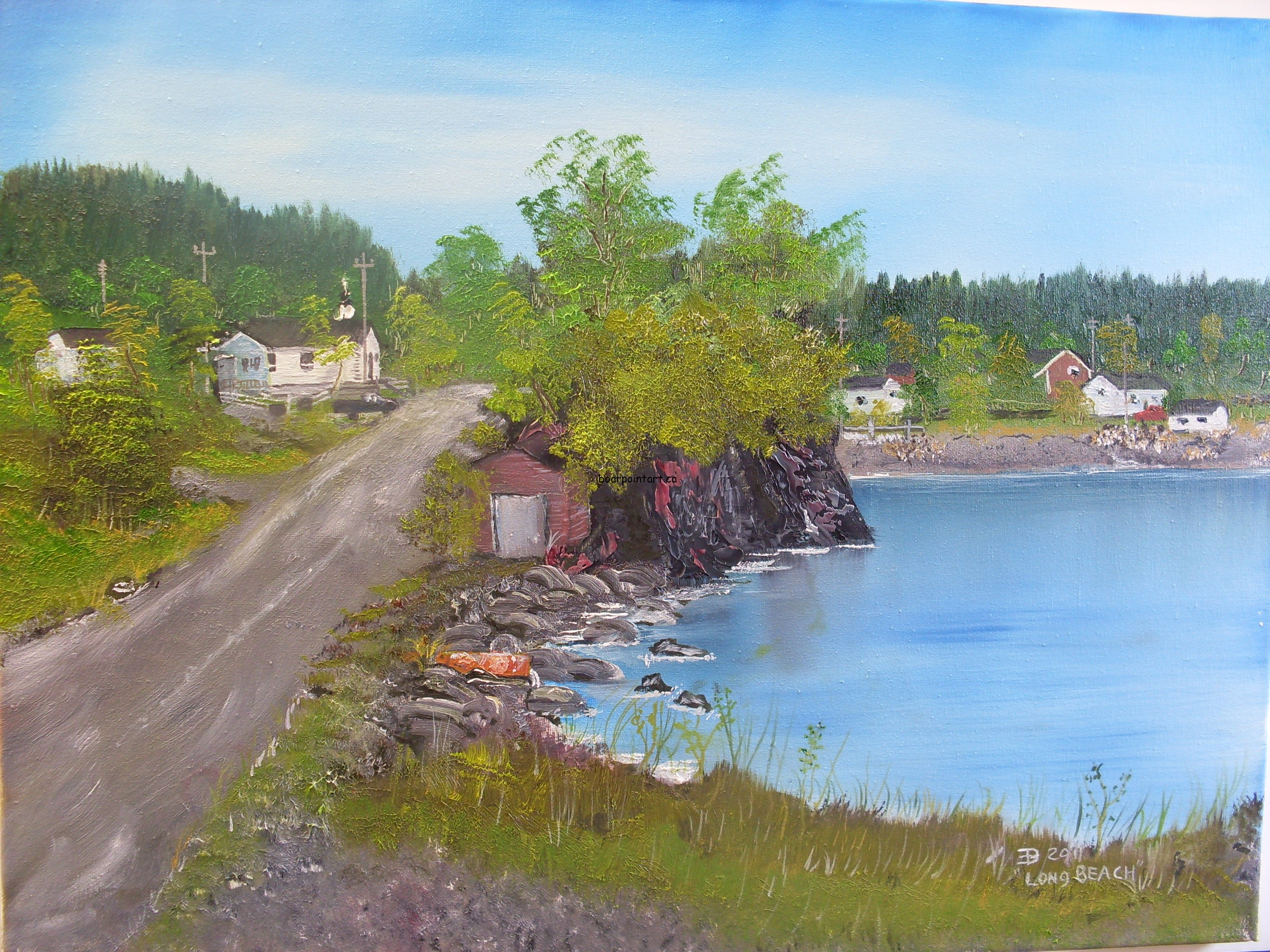 painting of  Long Beach,Trinity Bay