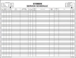 Service Schedule Pad