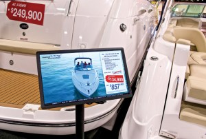 Marine Connection markets itself at five boat shows each year.