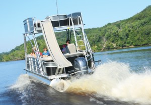 Family-focused boats such as the Premier Sky Dek are growing in sales as engineers continue to innovate.