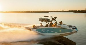 The HeyDay WT-1 was built using a simpler design to drive price points down for younger buyers, according to Ben Dorton, president of HeyDay Inboards. The WT-1 was named a Boating Industry Top Product in 2016.