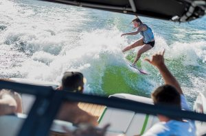 Water sports enthusiasts are embracing surfing.