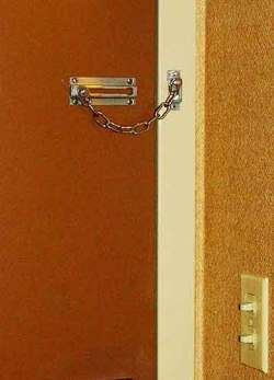 The useless chain latch in my room at Miami's Radisson Mart Plaza Hotel.