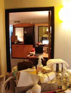 Hotel door open