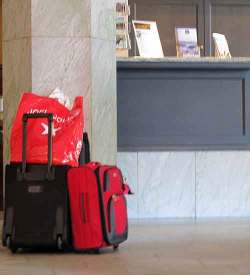 Luggage left in lobby