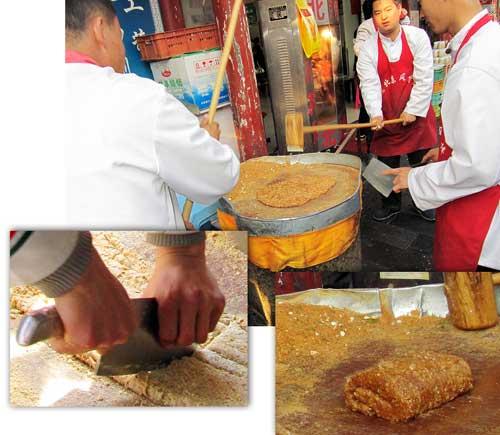 Beijing street food: Sesame snack